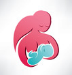 mother and baby vector icon