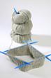 canvas print picture - Strickzeug - Nadelspiel - dicke Wolle - Handarbeit