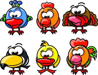 Птиц мультфильм вектор