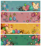 Easter floral banners