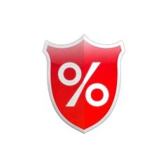 Secure shield percentage sign.