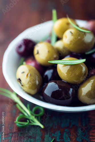 Marinated olives with rosemary