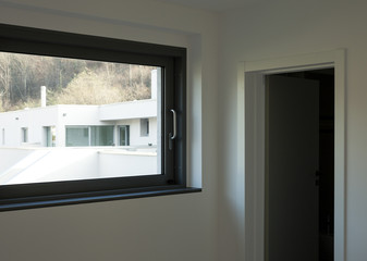 modern architecture, room with a window view