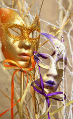 Beautiful Venetian carnival masks