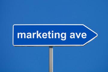 marketing road sign