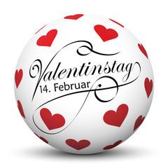 Valentinstag -14. Februar, Liebe, Herz, Datum, Termin, Kalender