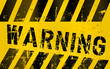 Warning sign, worn and grugy, vector scaleable eps 10