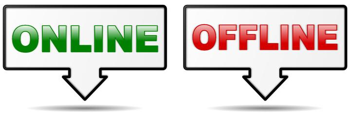 Icons Online Offline