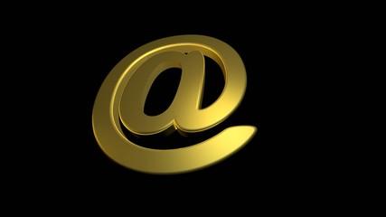 Email Symbol in Bewegung