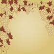 wein, weinblätter, weintraube, rahmen, deko, vektor, vines,