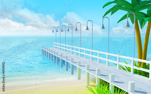tropical summer pier