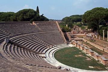 Ruins of Roman Theatre, Ostia Antica , Italy © Arena Photo UK
