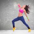 headbanging modern style dancer posing