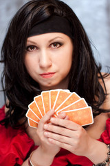 Gypsy woman with cards
