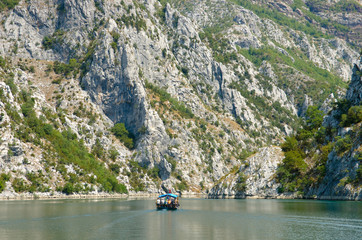 Small Boat On Koman-Fierza Lake, Albania