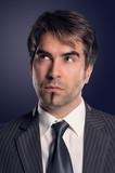 Portrait nachdenkender Geschäftsmann