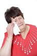 Weinende Seniorin