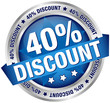 "Button Banner ""40% Discount"" blau/silber"