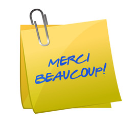 Merci Beaucoup! Sticky note