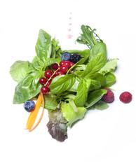 Insalata di verdura e ribes