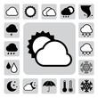 Icon set of weather ,Illustration