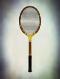 aged tennis racket