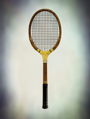 aged tennis racket