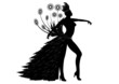 Danseuse Carnaval Rio - Sticker noir - Position 1