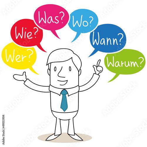 Geschäftsmann, Wer, Wie, Was, Wo, Wann, Warum