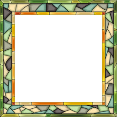 Vector stained-glass window frame for photography.
