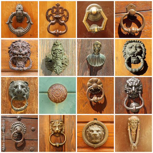 antique door's decors, Italy