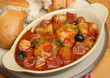 Spanish Chicken Casserole with Bread