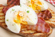 Poached Eggs with Bacon on Toast