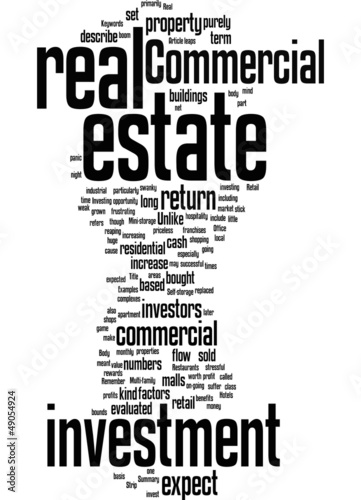 Commercial real estate investment Concept