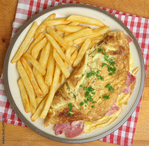 Omelet and Chips