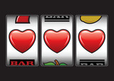 Triple hearts slots machine