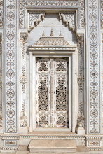 Marble doorway of the cenotaphs at Shivpuri.