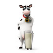 3d rendered illustration of a toon cow