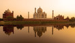 Taj Mahal at sunset. - 49059756