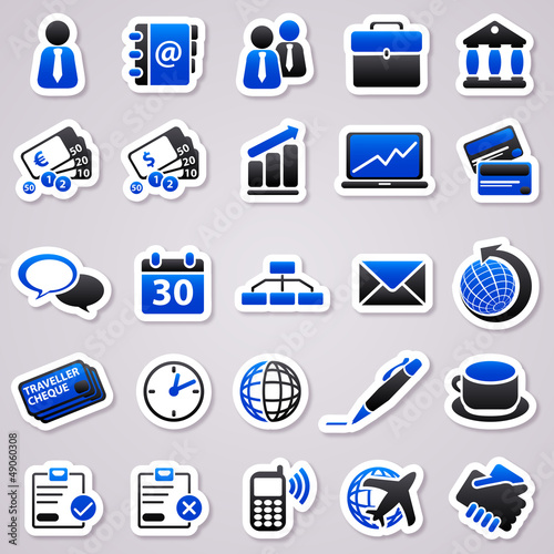 business navy blue stickers