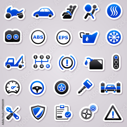 automotive navy blue stickers