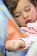 Little girl having a nap