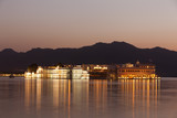 Taj Lake Palace at night, Udaipur, Rajasthan.