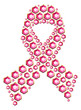 Gem in breast cancer awareness ribbon