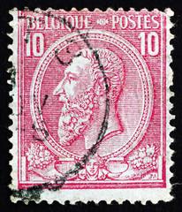 Postage stamp Belgium 1884 King Leopold II of Belgium