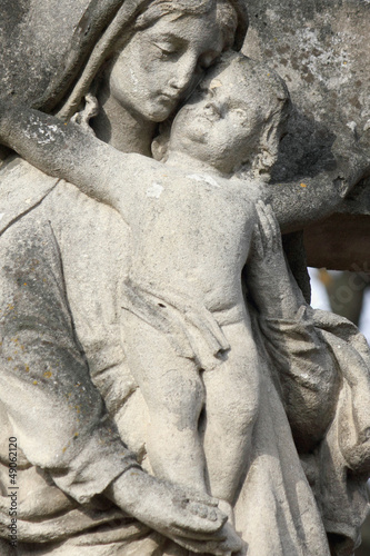 Statue Of Virgin Mary and Jesus Christ © zwiebackesser