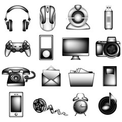 Black and White Icon Set