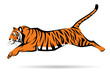 Tiger jumping