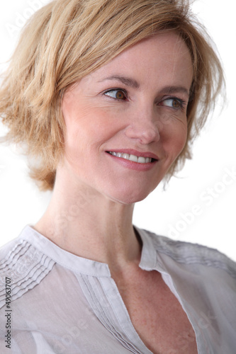 Woman smiling nicely