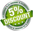 "Button Banner ""5% Discount"" grün/silber"